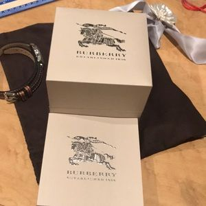 Authentic Burberry Watch with Double Leather strap